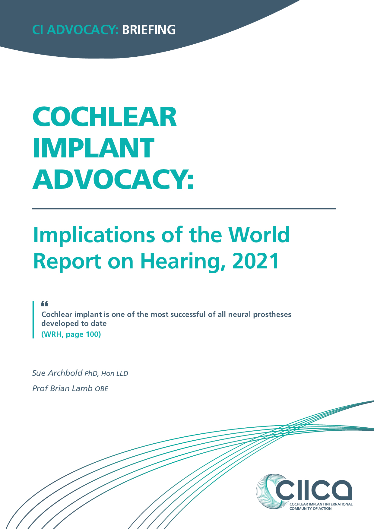 Four summaries of the CI evidence from WHO World Report on Hearing now available